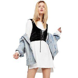 FREE PEOPLE Velvet Corset Crop top - Size XS/S